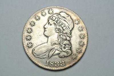 1833 Capped Bust Half Dollar, XF Details - C5684