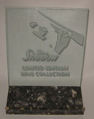 1994 The Shadow Ring Club Store Display 1 of only 2 Produced Glass & Marble