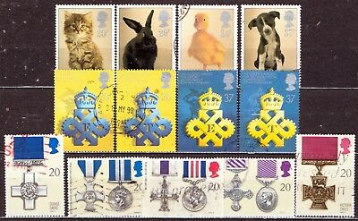 QEII 1990 3 used Commemorative sets (j570)
