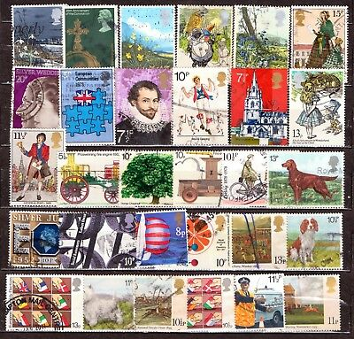 QEII 1971-79  30 HV Commemoratives used (j995)