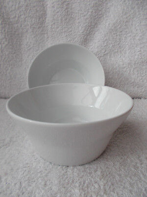 Denby James Martin Everyday White China - 2 Cereal or Dessert Bowls 6""