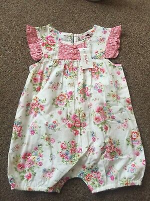 Brand New With Tags. Cath Kidson Baby Girls Summer Playsuit. 6-12 Months