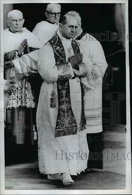 1967 Press Photo Rome Italy Pope Paul VI in Papal mourning ceremony