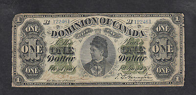 1878 Dominion Of Canada 1 Dollar Bank Note