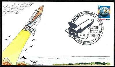 8 August 1989 Space Shuttle COLUMBIA Launch Cover - Hand Painted by O'Connell
