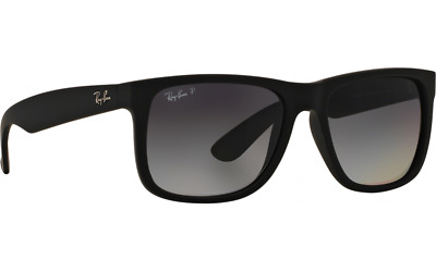 Ray Ban Rb 4165 Justin 622 t3 3P Black Matte Gradient Polarized Lens  Sunglass a10338fabe