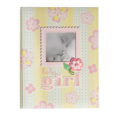C.R. Gibson Memory Book Baby Photo Album Toddler Girls Scrapbook Album Journal
