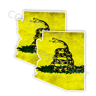 Dont Tread on Me Decal State Texas window vinyl sticker Various Size Distress