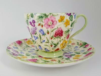 Shelley Country Side Floral Chintz Footed Tea Cup & Saucer - 5 Available