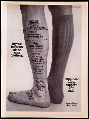 Vintage Interwoven Supp-Hose Socks Magazine Ad For The Man On The Go