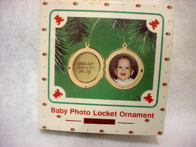1985 HALLMARK Baby Photo Locket Ornament complete with hanger NEW IN BOX