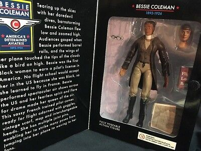 HIA Toys Bessie Coleman Fearless Fly Girl Figure Rare