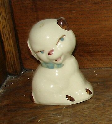 "Adorable SHAWNEE Art Pottery MINIATURE 3 1/4"" Tall PUPPY DOG Figurine"