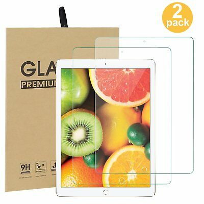 """2 Pcs Tempered Glass Film Screen Protector Guard For Apple iPad 9.7"""" 2017&2018"""