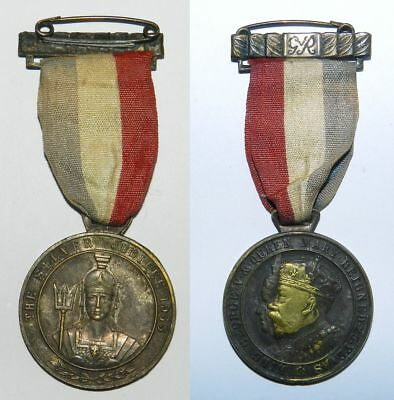 Great Britain :  George V Medal & Ribbon - 25 Years Of Reign - Britannia Facing