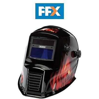 Draper WGH4 Solar Powered Auto-Varioshade Welding and Grinding Helmet-Flame