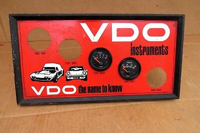 Vdo Gauges Display Tin Sign May Suit Holden Eh Hr Hk Ht Hg Hq Ford Xm Xp Xw Xy .