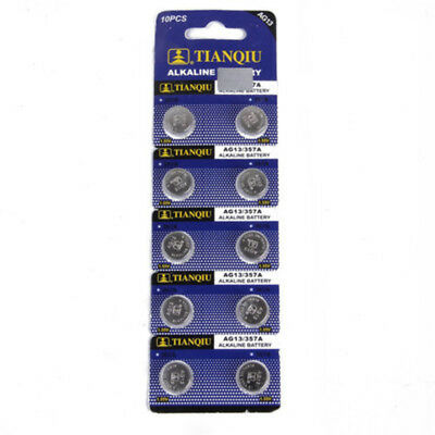 10PCS AG13 LR44 SR44 L1154 357 A76 Button Coin Cell Pack Alkaline Batteries New