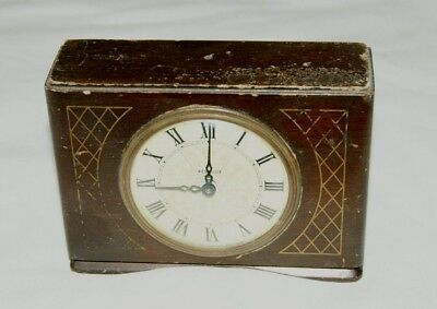 Vintage WESTCLOX (Scotland) Wood Cased Mantel/Alarm Clock, Spares/Repair