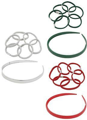 Zest 1cm Wide Alice Band with 6 Matching Hair Bands Hair Accessory
