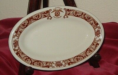 ROOSEVELT HOTEL OVAL BREAD PLATE New Orleans La China Dinnerware