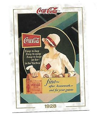 Coca Cola Collection (1993) 1928 # 30 FINE AFTER HOUSEWORK Six Box Coke