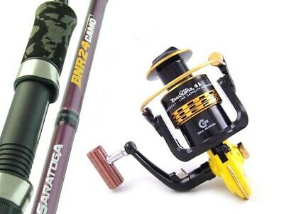 SARATOGA 6'6 8kg Graphite Spinning Fishing Rod and Reel Combo Snapper Salmon