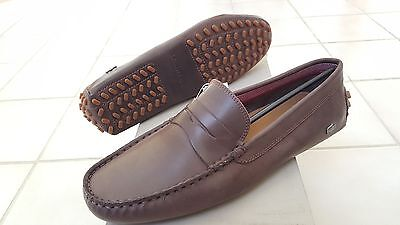 952c1b021c2d Lacoste Concours 16 Men Casual Moccasins Leather Loafer Shoes US10.5 EUR44  Brown