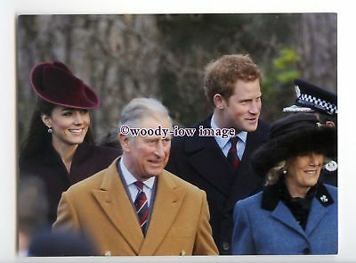 er0290 - Charles, Camilla, Harry & Catherine at Xmas Day Service, 2011- postcard