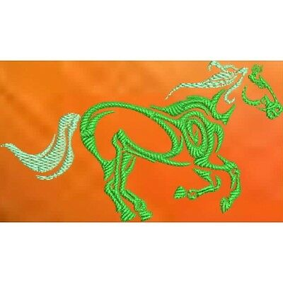 Embroidered Short-Sleeved T-Shirt - Tribal Horse S1-02 Sizes S - XXL