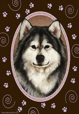 Large Indoor/Outdoor Paws Flag - Alaskan Malamute 17147