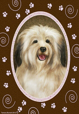 Large Indoor/Outdoor Paws Flag - Cream Havanese 17097