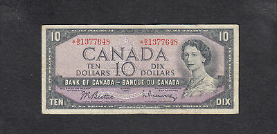 1954 Canada 10 Dollars Replacement Bank Note