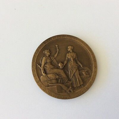 Bronze 1869 France Medal FOR OPENING SUEZ CANAL