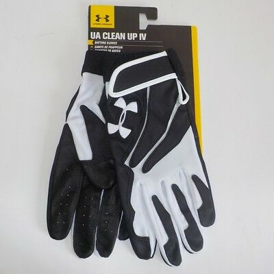 Under Armour CLEAN UP IV Baseball Batting Gloves PANDA 1229408 100 Adult LARGE