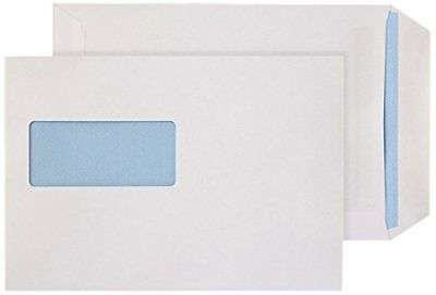 500 x White Self Seal C5 Window White Envelopes 229 x 162 mm 90gsm