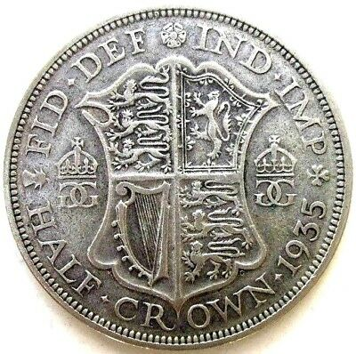 Great Britain Uk Coins, Half Crown 1935, George V, Silver 0.500