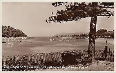 Postcard - Llandudno - The Mouth of The River Conway Showing Great Ormes Head