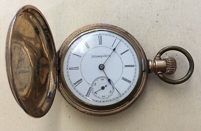 """Vintage Hampden Gold Filled Pocket Watch-""""As Is"""" Parts or Repairs ROL15"""