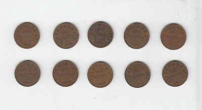 1926 Canada 1 Cent Coin Lot Of 10