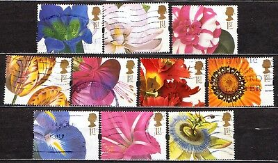 QEII 1997 Greetings stamps Flowers used set (j400)