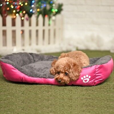 M Size Rose Small Soft Pink Pet Dog Cat Bed Puppy Cushion House Warm Sofa Kennel