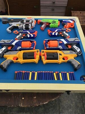 Joblot Of 9x Nerf Guns & Darts