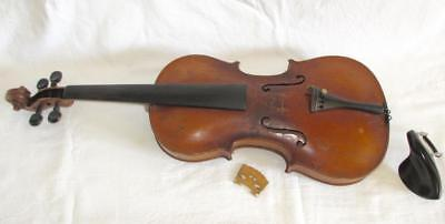 Antique Fine Quality 19Th C 4/4 Violin Possibly French Or Italian & Case