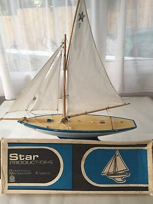 Vintage Boxed Star Production  SY6 Model Sailing/pond Yacht Great Condition