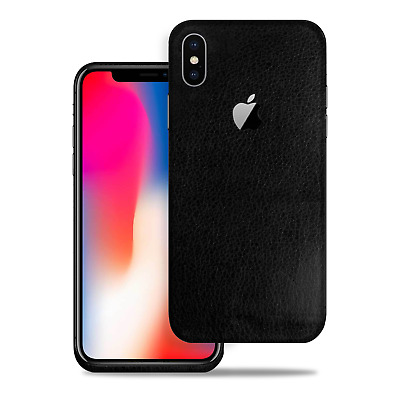 huge discount a94f4 21e51 [SOJITEK] FOR APPLE iPhone X Black Leather Protective Vinyl Skin Decal  Stickers