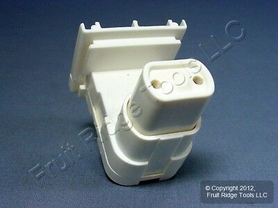 Leviton Fluorescent Lamp Holder Light Socket T8 T12 Oval Plunger Bi-Pin 13570