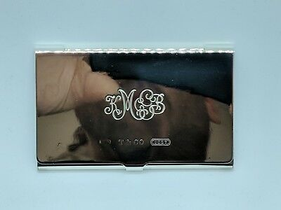 1999 Tiffany & Co. Sterling Silver 1837 Business Card Holder Card Case
