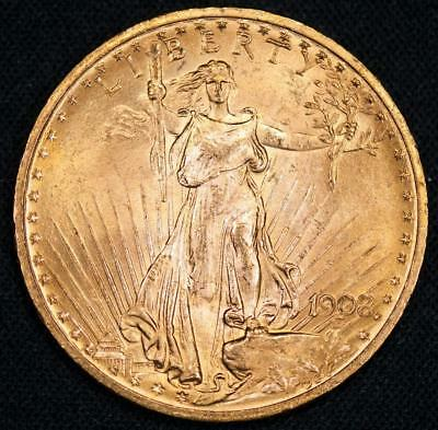 1908 ST. GAUDENS GOLD $20 DOUBLE EAGLE Item#M1690