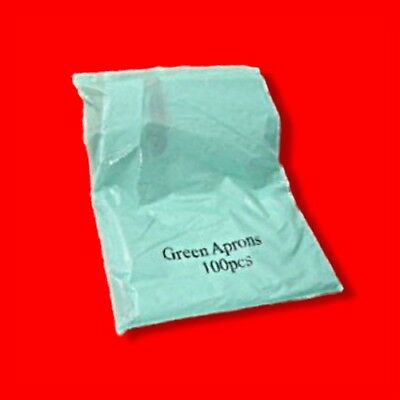 Box 1000 Disposable Plastic Aprons Green Polythene Aprons (10 Flat Packs Of 100)